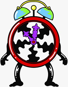 Anthropomorphic clock