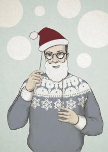 Man dressed up as Santa Claus