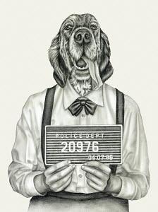 Mug shot of humanlike dog