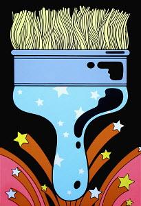 Psychedelic paintbrush