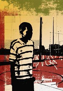 Boy standing in playground