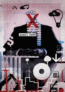 Montage of stock market symbols