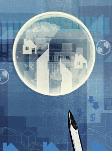 Needle about to burst housing bubble