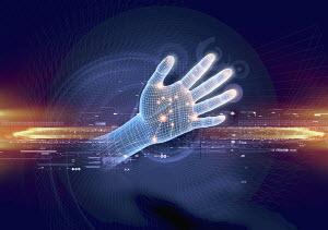 Futuristic hand