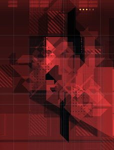 Abstract red geometric pattern