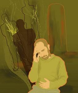 Man suffering from headache