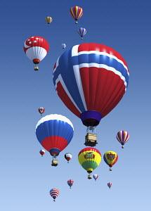 International flag hot air balloons