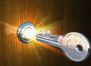 Key and glowing lock
