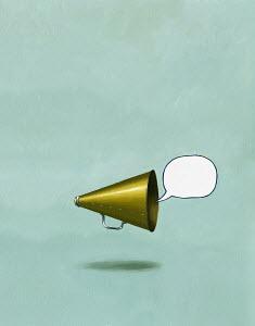 Bullhorn yelling empty message