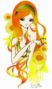 Astrology woman with Virgo zodiac symbol