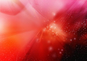 Abstract, futuristic image of red swirls and light