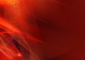 Abstract image of red, swirling clouds