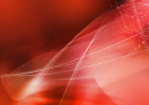 Abstract image of red swirling lines and lights