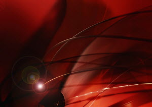 Abstract image of red cables and lights