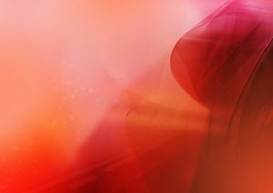 Abstract image of red, swirling cloud