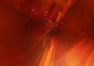 Abstract image of red lights and lines