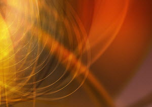 Abstract image of red and yellow swirling lines