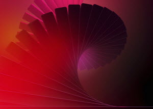 Abstract swirling red spiral