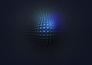 Abstract blue, bulging pattern