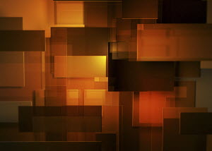 Abstract montage of orange and red rectangles