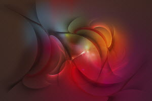 Abstract glowing curved shapes