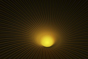 Abstract lines vanishing into glowing hole