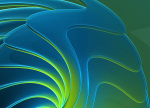 Abstract digitally generated backgrounds with wavy blue and green lines