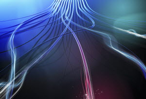 Abstract flowing cables and light trails