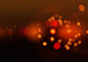Bright red abstract backgrounds pattern of circles and lights