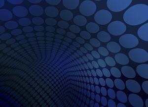 Dark abstract diminishing perspective circle pattern