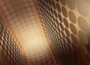 Brown abstract diminishing perspective circle pattern