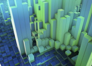 Abstract three dimensional city topography