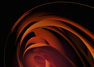 Abstract smooth concentric orange layers