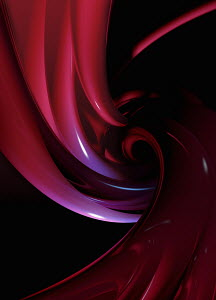 Abstract smooth swirling spiral pattern