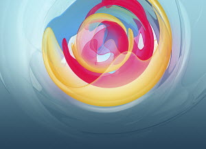 Abstract backgrounds pattern of concentric translucent shapes