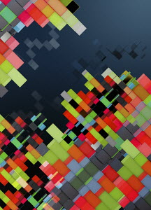 Tilted geometric multicolored abstract backgrounds pattern