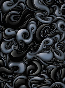 Gray swirling liquid