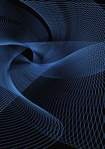 Swirling blue lines