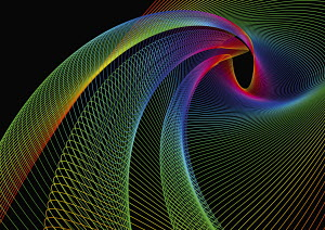Swirling rainbow colored lines