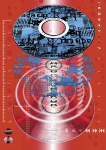 Montage of cd�s and audio symbols