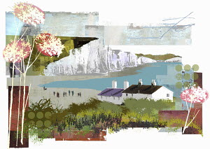 Collage of Sussex coastline