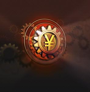 Yen symbol in centre of cog