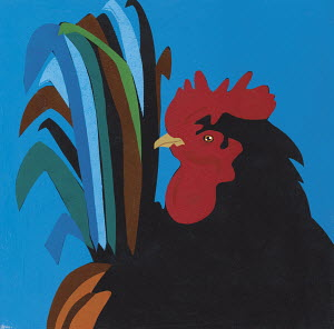 Portrait of rooster