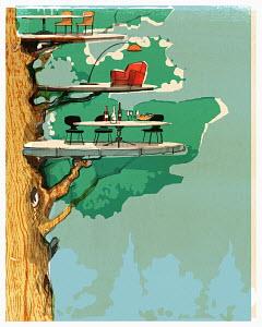 Living platforms in tree