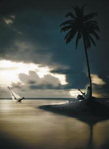 Man on deserted island