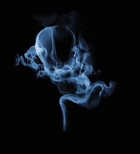 Swirling smoke in shape of fetus
