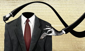 Arms taking money from businessman�s pocket