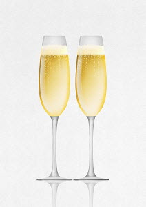 Champagne in two champagne flutes