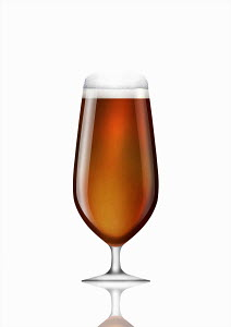 Stemmed glass of bitter beer