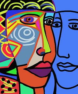 Modern art faces